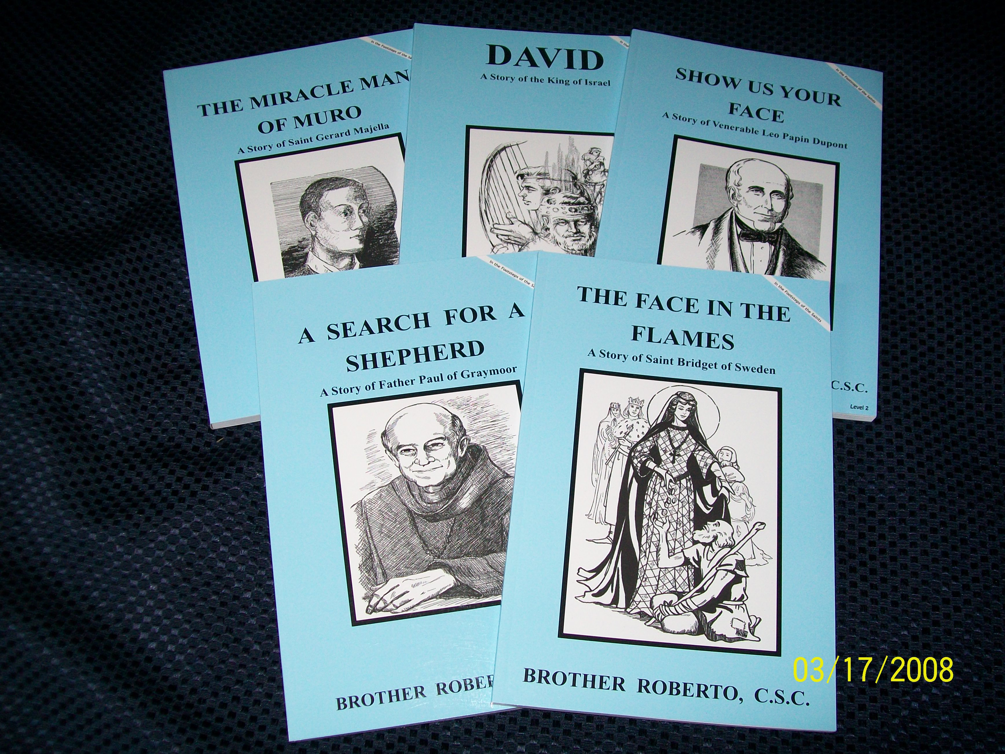 Image for Level 2 Set 5-A Search For A Shepherd, Father Paul of Graymoor, The Face In The Flames, Saint Bridget of Sweden, David, A Story of the King of Israel, Show Us Your Face, Venerable Leo Papin Dupont, The Miracle Man Of Muro, Saint Gerard Majella