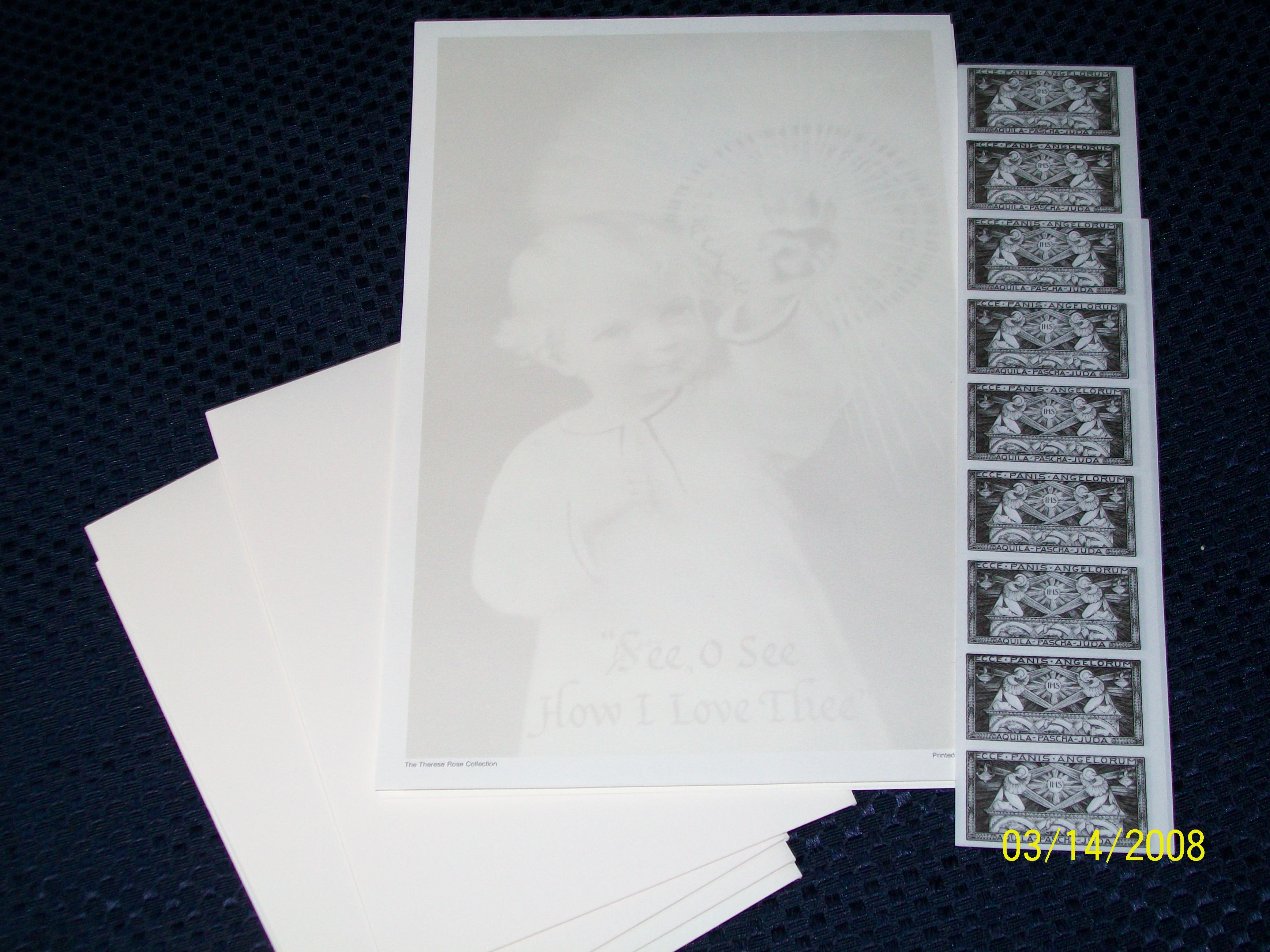 Image for Child Jesus/Therese Rose Stationery Collection